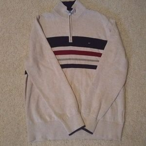 Tommy Hilfiger Mens Pullover 1/4 Zip Sweater XL